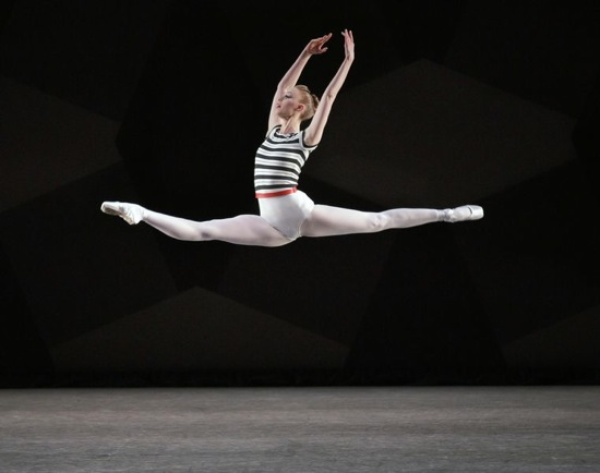 Teresa Reichlin flies through Justin Peck's new ballet. Photo: Paul Kolnik