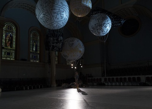 A quiet moment in Shen Wei's Map in Judson Church. Photo: Juan Vargas