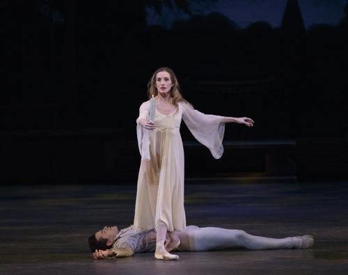 Wendy Whelan not noticing Robert Fairchild in George Balanchine's La Sonnambula. Photo: Paul Kolnick