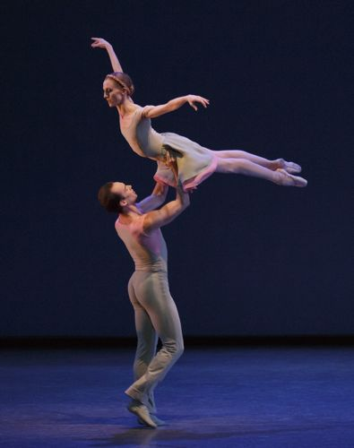 Wendy Whelan and Tyler Angle in Alexei Ratmansky's Concerto DSCH. Photo: Paul Kolnick