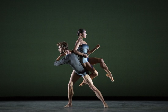 ABT's James Whiteside and Misty Copeland in Liam Scarlett's With a Chance of Rain. Photo: Marty Sohl
