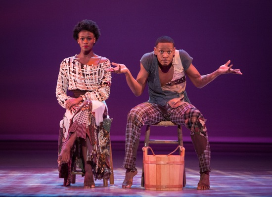 Rachael McLaren and Marcus Jarrell Willis in Matthew Rushing's Odessa. Photo: Yi-Chun Wu