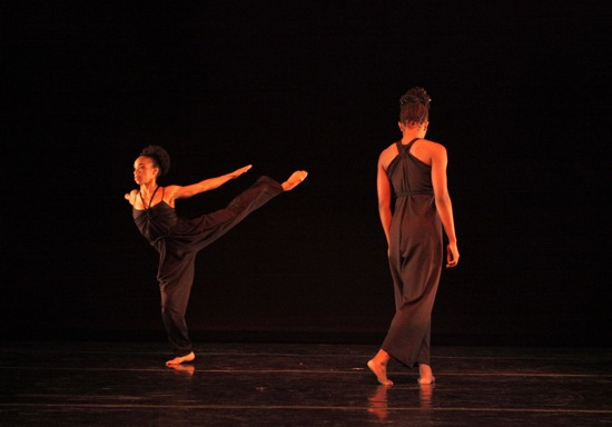 "Annique Roberts (L) and Coral Dolphin in ""March"" from Ronald K. Brown's Lesson. Photo: Ayodele Casel"