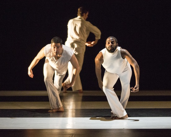 (L to R): Gregory Youdan Jr., Brynt Beitman, and Jerron Herman  in Somewhere. Photo: Marina Levitskaya