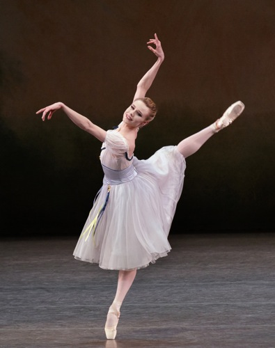 Sara Mearns in The Flower Festival  in Genzano pas de deux. Photo: Paul Kolnik