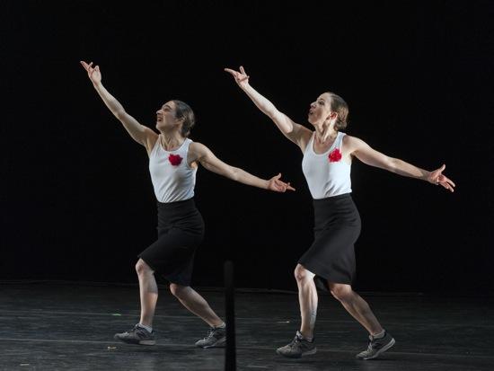 Monica Bill Barnes (L) and Anna Bass doing it yet again. Photo: Nancy Palmieri