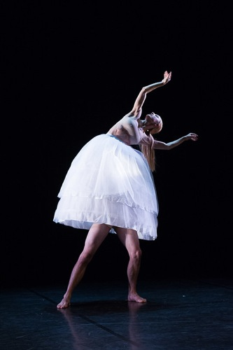 Garazi Perez Oloriz with Maurus Gauthier's legs in Po-Cheng Tsai's Floating Flowers. Photo: Christopher Duggan