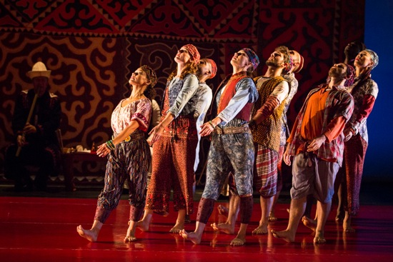 The dancers of I Dream'd a Dream (L to R, some partly hidden): Rebecca Arends Christina Robson, Aaron R. White, Elizabeth Coker, Benjamin Freedman, David Gonsier, Michael Richman, Dwayne Brown. Photo: Yi-Chun Wu