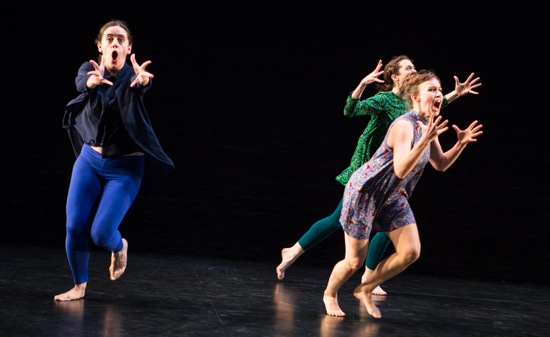 (L to R): Tess Dworman, Mary Read, and Natalie Green in The Goodbye Studies. Photo: Yi-Chun Wu