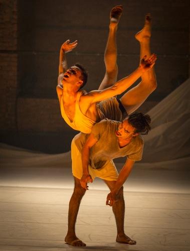 Gallim Dance's Daniel Staaf bears Austin Tyson. Photo: Yi-Chun Wu