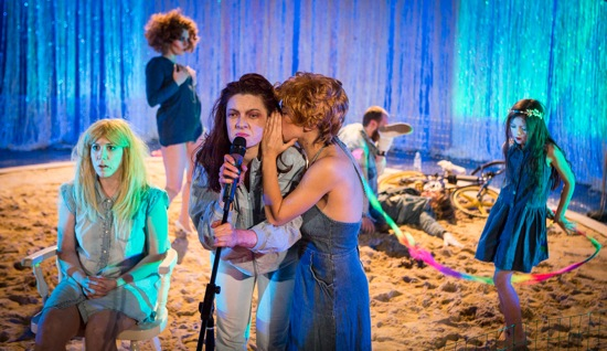Elektra Cabaret. Foreground (L to R): Marissa Mickelberg, Ann Liv Young, Nessa Norwich. At back (L to R): Bailey Catherine Nolan, Daniel Borg, and Vanessa Soudan. Photo: Yi-Chun Wu