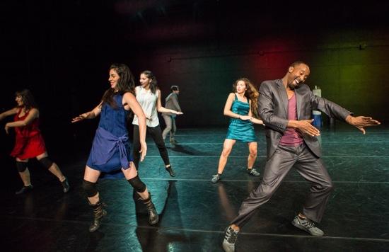 Dabke's dancers. (L to R): Salma Ataya, Samaa Wakeem, Aseel Qupti, Fadi  Zmorrod, Hiba Harhash, Mohammed Samahnah. Photo: Yi-Chun Wu