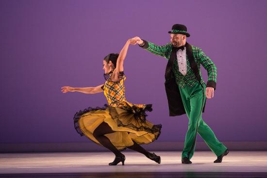 Parisa Khobdeh and George Smallwood in Paul Taylor's Sullivaniana. Photo: Yi-Chun Wu