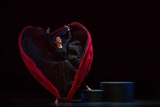 """Blakeley White-McGuire as """"Spectre of 1914"""" in Martha Graham's Chronicle. Photo by Brigid Pierce"""