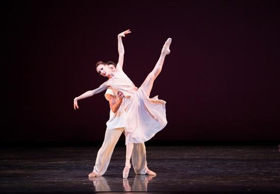 Tricia Albertson and Kleber Rebello in Alexei Ratmasky's Symphonic Dances. Photo: Sasha Iziaev