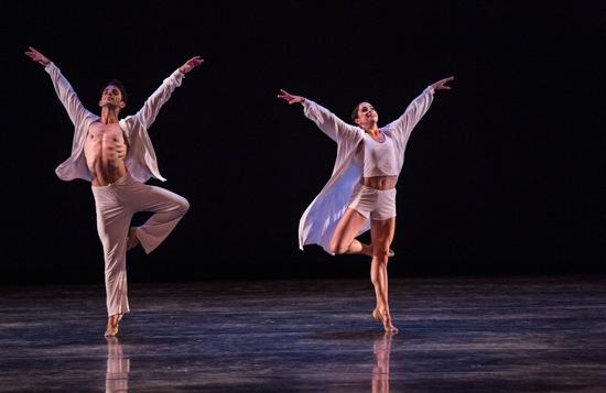 Michael Sean Breedon and Leigh-Ann Esty in Twyla Tharp's Sweet Fields. Photo: Danial Azoulay