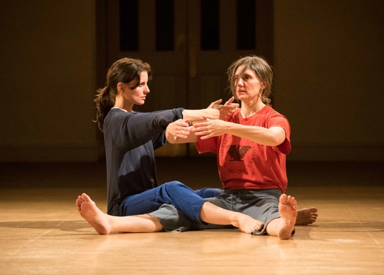 Jimena Paz (L) and Juliette Mapp in Mapp's Luxury Rentals. Photo: Ian Douglas, courtesy of Danspace Projects