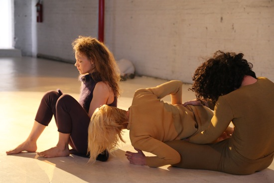 (L to R): Marilyn Maywald Yahel, Heather Lang, and Stuart Singer in Beth Gill's Catacomb. Photo: Brian Rogers