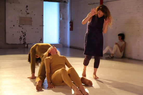 Beth Gill's Catacomb. (L to R): Stuart Singer and Heather Lang (on floor). Marilyn Maywald Yahel (standing), and Jennifer Lafferty at back. Photo: Brian Rogers