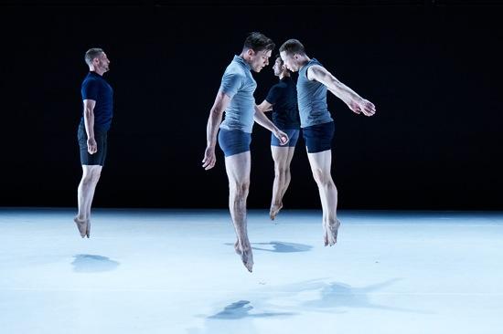 Doug Varone's mark. (L to R): Alex Biegelson, Tony Bordonaro, William Tomaskovic, and Derek Crescenti of Ten Hairy Legs. Photo; Rachel Neville