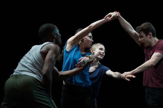 William Forsythe's N.N.N.N. Hubbard Street dancers (L to R): Jeffery Duffy, Jacqueline Burnett, Kevin J. Shannon. Photo: Christopher Duggan