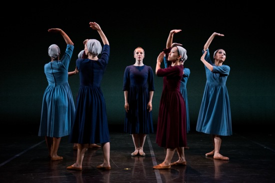 The women in Antony Tudor's Dark Elegies. Center: Carmella Lauer. Photo: Cherylynn Tsushima