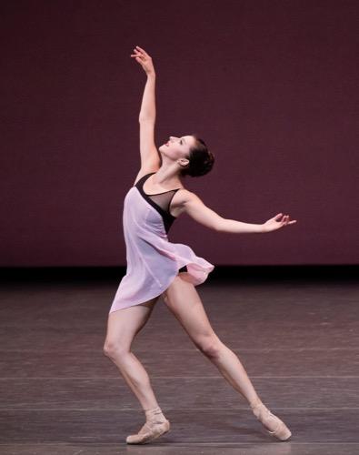 New York City Ballet's Indiana Woodward in Lauren Lovette's For Clara. Photo: Paul Kolnik