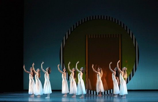 Pan's nymphs in Benjamin Millepied's Daphnis and Chloe. Photo: Marty Sohl