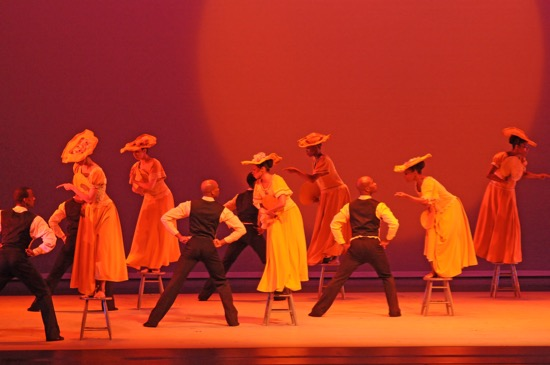 Alvin Ailey American Dance Company in Ailey's Revelatiions. Photo: Manny Herandez
