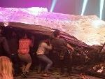 Set Collapses On Theatre Audience In London