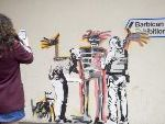 New Banksy Murals Turn Up In London As Basquiat Show Opens