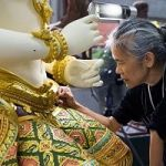 Preparing The Intricate, Ornate Artwork To Be Burned On The King Of Thailand's Funeral Pyre