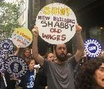 MoMA Workers Protest For Higher Wages Outside Museum Fundraiser