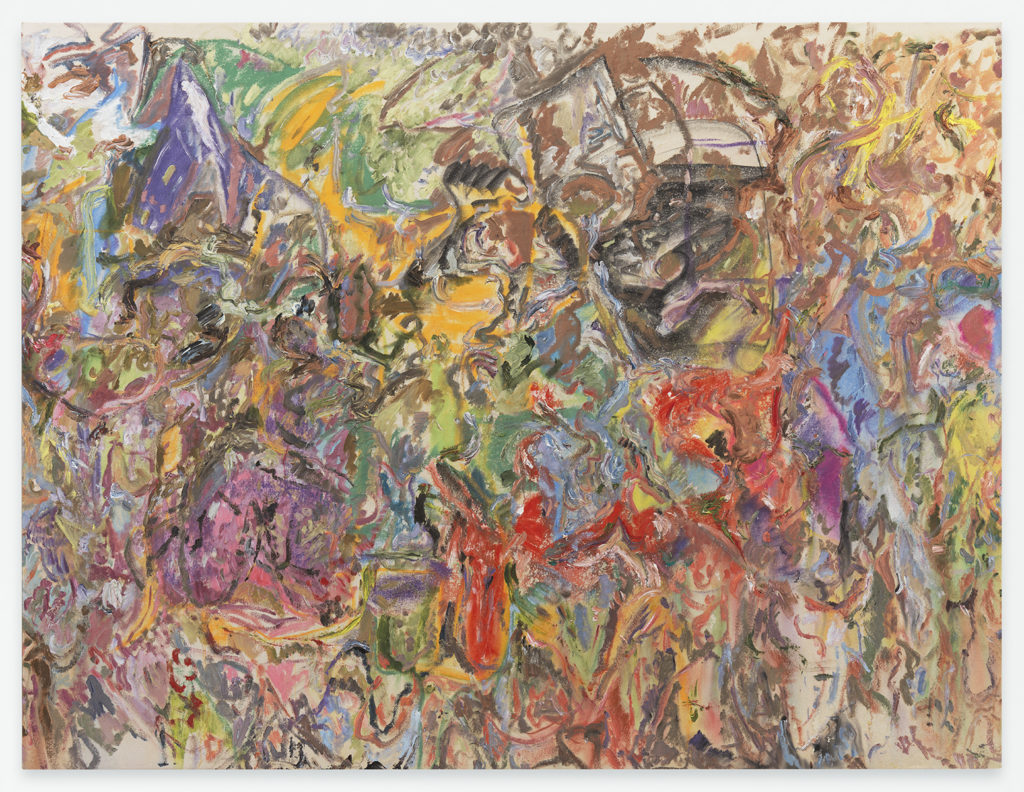 Larry Poons Glass Coach Louisville 2007 acrylic on canvas 172-x-225.4 cm