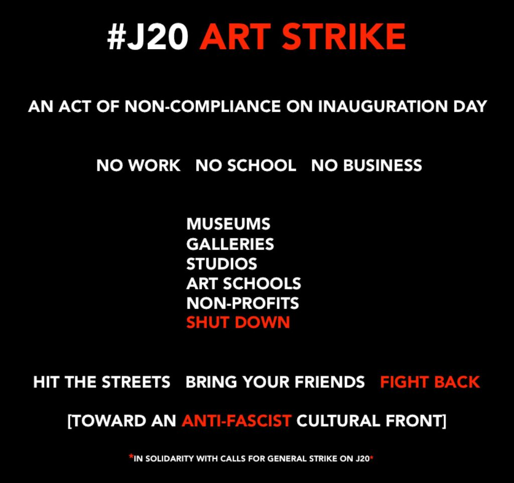 Image result for art strike 2017