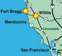Fort Bragg map
