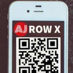 White iPhone with QR Code, ArtsJournal Logo and Row X