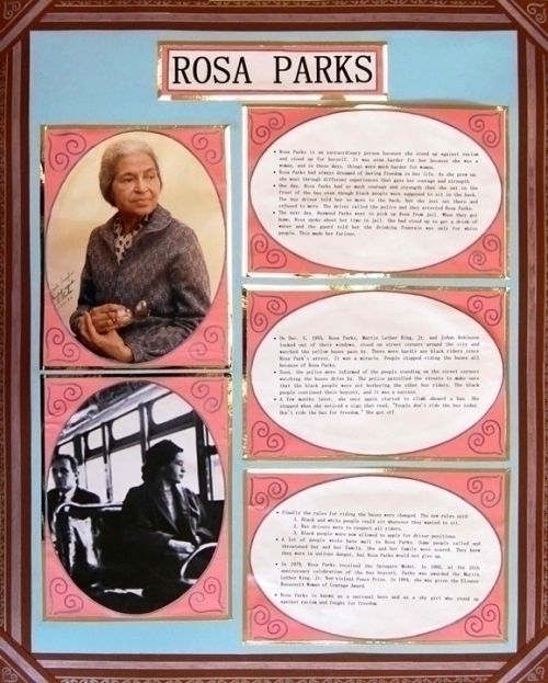 make a poster about rosa parks