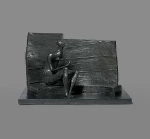 LOT 66 HENRY MOORE SEATED FIGURE AGAINST CURVED WALL Estimate   1,300,000 — 1,800,000 USD  UNSOLD