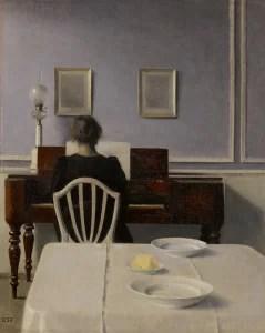 LOT 7 VILHELM HAMMERSHØI INTERIOR WITH WOMAN AT PIANO, STRANDGADE 30 Estimate   2,500,000 — 3,500,000 USD  PRICE REALIZED  6,211,700