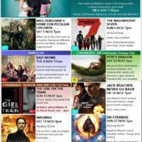 Arts MR November Cinema poster