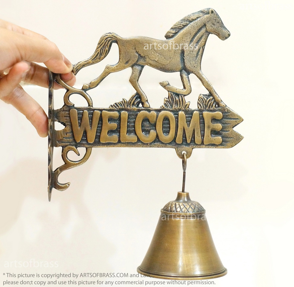Country horse brass door knockers welcome gate front door knocker 846 country horse brass door knockers welcome gate front door knocker rubansaba