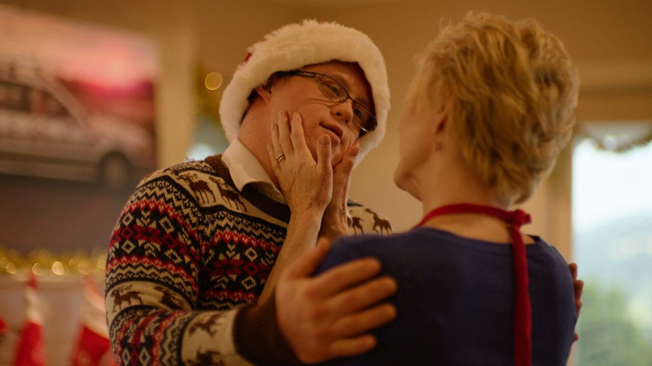 Gerard O'Dwyer Dee Wallace hug - Red Christmas Photo by Douglas Burgdorff