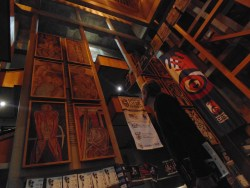 The artwork and festival banners in the foyer of the Settler's Monument where the daily SAfm Sundowner's Concerts take place.