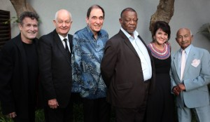 Lifetime Achievement Award winners: Johnny Clegg, Pieter-Dirk Uys, Albie Sachs, Mongane Wally Serote, Penny Siopis and Johaar Mosaval. Arts & Culture Trust Awards 2016 Maslow Hotel, Sandton. 21 October 2016 Photograph: John Hogg