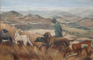The Jackal Patrol, 104cm x 73cm (framed), oil on canvas