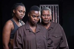 Lungile Mkhize, Dawn King and Sheila Khumalo in The Game at The Playhouse Company.