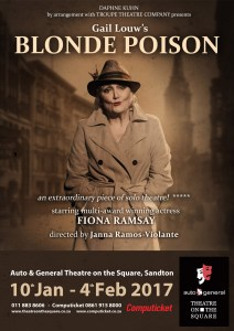 Fiona Ramsay stars in Gail Louw's Blonde Poison, directed by Janna Ramos-Violante