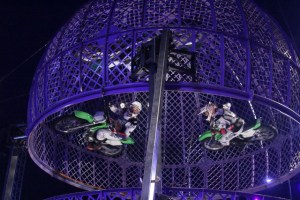 The Globe of Death – The Finale! - Just as you thought you couldn't take any more – the Great Moscow Circus brings you the biggest Globe of Death Motorcycle act ever to hit these shores