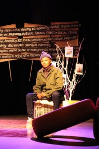 Tsholofelo Ross in Chapter 2 Section 9. Pic by Charmaine Carol.